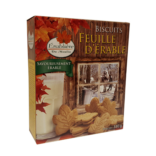 Biscuits Feuille d'erable - 350g - Quebec