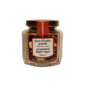 Sucre d'erable granule - 100% pur sirop d'erable - 125g - Trois Pistoles