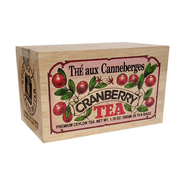 Thé a la canneberge - boite bois- 25 sachets - Metropolitan Tea - Toronto